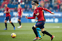 Kike Barja (forward; CA Osasuna) during the Spanish football of La Liga 123, match between CA Osasuna and CD Lugo at the Sadar stadium, in Pamplona (Navarra), Spain, on Sanday, December 2, 2018.