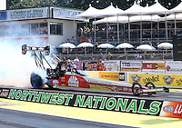 Aug. 3, 2014; Kent, WA, USA; NHRA top fuel dragster driver Doug Kalitta during the Northwest Nationals at Pacific Raceways. Mandatory Credit: Mark J. Rebilas-