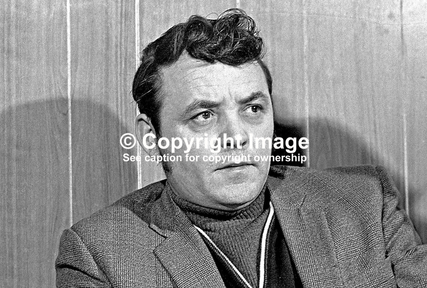Tommy Lyttle, Lieut Colonel, &quot;C&quot; Company, Ulster Deffence Association, Shankill Road, Belfast, N Ireland, UK, 197202160110b.<br /> <br /> Copyright Image from Victor Patterson,<br /> 54 Dorchester Park, Belfast, UK, BT9 6RJ<br /> <br /> t1: +44 28 90661296<br /> t2: +44 28 90022446<br /> m: +44 7802 353836<br /> <br /> e1: victorpatterson@me.com<br /> e2: victorpatterson@gmail.com<br /> <br /> For my Terms and Conditions of Use go to<br /> www.victorpatterson.com