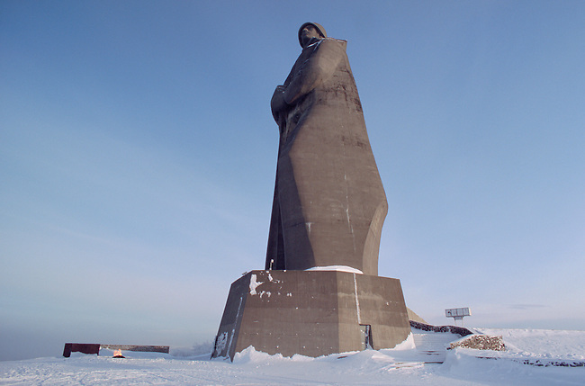 The 'Alyosha' monument, a large concrete statue dedicated to Russian soldiers who fought in WW2. Murmansk, NW Russia.