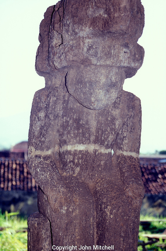 Pre-Columbian stone idol from Isla Zapatera, on display in the San Francisco Museum in the Spanish colonial city of Granada, Nicaragua