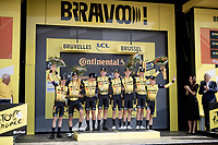 Team Jumbo-Visma wins the TTT<br /> <br /> Stage 2 (TTT): Brussels to Brussels (BEL/28km) <br /> 106th Tour de France 2019 (2.UWT)<br /> <br /> ©kramon