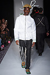 Fashion designer Jimmy Burner walks runway at the close of his Jimmy Burner Fall Winter 2017 collection fashion show, during the Designers' Premier Fall Winter 2017 runway show on February 11, 2017; during FGNYFW Fall Winter 2017.