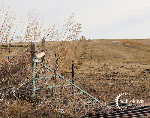A cattle guard located in the Pawnee National Grasslands.