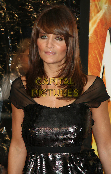 """HELENA CHRISTENSEN .New York Premiere of """"Australia"""" at the Ziegfeld Theater, New York, NY, USA..November 24th, 2008.half length dress black sequins sequined sheer sleeves .CAP/LNC/TOM.©TOM/LNC/Capital Pictures."""