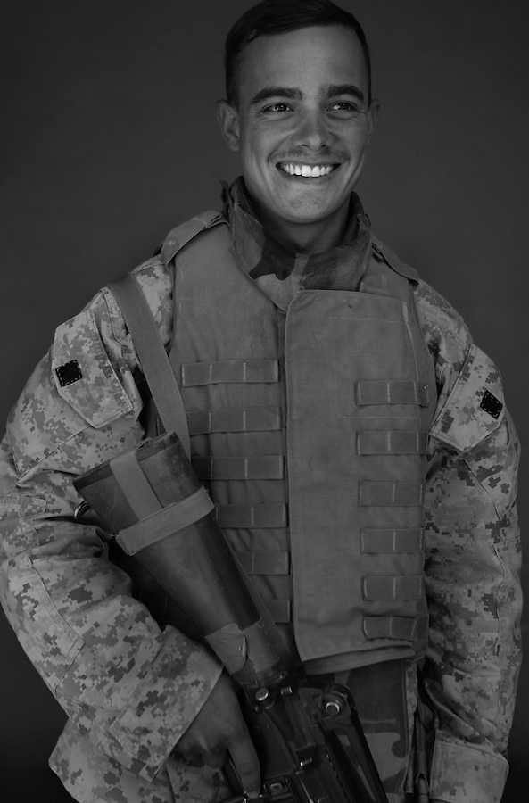 Sgt. Frank Wuterich, 25, Meridan, Connecticut, 3rd Platoon,Kilo Company,  3rd Battalion, 1st Marine Regiment, 1st Marine Division, United States Marine Corps, at the company's firm base in Hit, Iraq on Friday Sept. 23, 2005.
