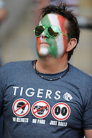 A Tigers fan looks on during the Aviva Premiership Final between Leicester Tigers and Northampton Saints at Twickenham Stadium on Saturday 25th May 2013 (Photo by Rob Munro)