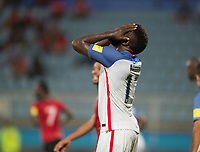 Couva, Trinidad & Tobago - Tuesday Oct. 10, 2017: Jozy Altidore reacts during a Trinidad 2-1 win over the USA at the 2018 FIFA World Cup Qualifier at Ato Boldon Stadium.