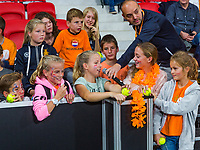 The Hague, The Netherlands, September 17, 2017,  Sportcampus , Davis Cup Netherlands - Chech Republic, Kids press-conference, <br /> Photo: Tennisimages/Henk Koster