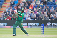 Tamim Iqbal (Bangladesh) drives high over point for four during England vs Bangladesh, ICC World Cup Cricket at Sophia Gardens Cardiff on 8th June 2019