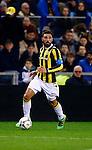 Nederland, Arnhem, 13 februari 2016<br /> Eredivisie<br /> Seizoen 2015-2016<br /> Vitesse-SC Heerenveen <br /> Guram Kashia, aanvoerder van Vitesse in actie met bal.
