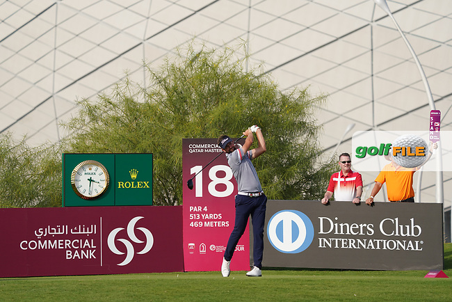 Scott Jamieson (SCO) during the third round of the Commercial Bank Qatar Masters 2020, Education City Golf Club , Doha, Qatar. 07/03/2020<br /> Picture: Golffile | Phil Inglis<br /> <br /> <br /> All photo usage must carry mandatory copyright credit (© Golffile | Phil Inglis)