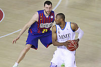 16.06.2013 Barcelona, Spain. Liga Endesa . Playoff game 4 Picture show Darder in action during game between FC Barcelona against Real Madrid at Palau Blaugrana
