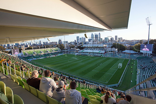 01.09.2016. nib Stadium, Perth, Australia. World Cup Football Qualifier. Australia versus Iraq. View of nib Stadium with the city of Perth in the background before the start of the game.