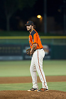 AZL Giants relief pitcher Reagan Bazar (46) delivers a pitch to the plate against the AZL Athletics on August 5, 2017 at Scottsdale Stadium in Scottsdale, Arizona. AZL Athletics defeated the AZL Giants 2-1. (Zachary Lucy/Four Seam Images)