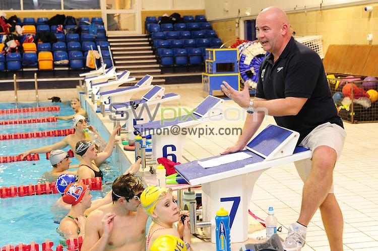 PICTURE BY ALEX BROADWAY/SWPIX.COM - Day in The Life Bath ITC - Bath University, Bath - 06/12/10...Copyright - Simon Wilkinson - 07811267706...Head Coach Dave McNulty.