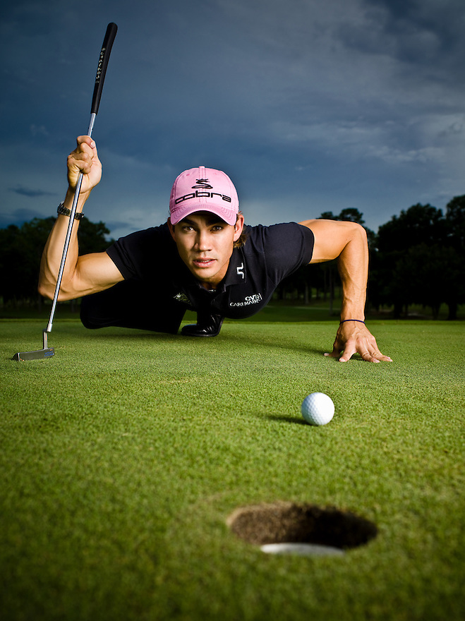 Golfer Camilio Villegas photographed at the University of Florida Golf Course in Gainesville, Florida on September 20, 2007 for Golf Magazine.