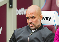 Manchester City manager Pep Guardiola before the EPL - Premier League match between West Ham United and Manchester City at the Olympic Park, London, England on 29 April 2018. Photo by Andrew Aleksiejczuk / PRiME Media Images.