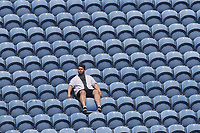 A spectator looks on during Glamorgan vs Essex Eagles, Royal London One-Day Cup Cricket at the SSE SWALEC Stadium on 7th May 2017