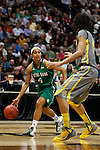 03 APR 2012:  Skylar Diggins (4) of the University of Notre Dame dribbles downcourt against Brittney Griner (42) of Baylor University during the Division I Women's Basketball Championship held at the Pepsi Center in Denver, CO.  Jamie Schwaberow/NCAA Photos