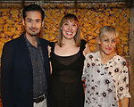 Marcus Ho, Crystal Finn and Constance Shulman attends the Opening Night Press Reception for the Roundabout Theatre Company/Roundabout Underground production of 'Bobbie Clearly' at The Black Box Theatre on April 3, 2018 in New York City.