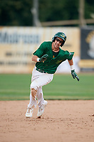 Beloit Snappers center fielder Mickey McDonald (4) runs the bases during a game against the Dayton Dragons on July 22, 2018 at Pohlman Field in Beloit, Wisconsin.  Dayton defeated Beloit 2-1.  (Mike Janes/Four Seam Images)