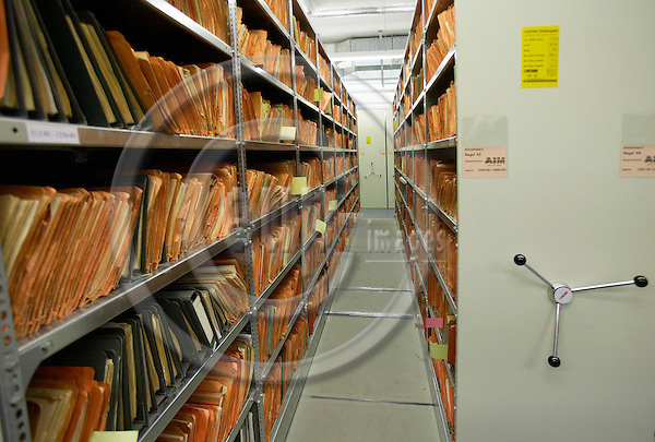 "BERLIN - GERMANY 13. JANUARY 2005  -- The former STASI archives in Normadenstrasse in Berlin-Lichtenberg -- PHOTO: CHRISTIAN T. JOERGENSEN / EUP & IMAGES....This image is delivered according to terms set out in ""Terms - Prices & Terms"". (Please see www.eup-images.com for more details)"