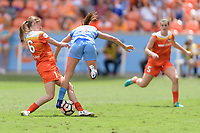 Houston, TX - The Houston Dash defeated the Chicago Red Stars 2-0 on Saturday April 15, 2017: Janine Beckie, Arin Gilliland during a regular season National Women's Soccer League (NWSL) match at BBVA Compass Stadium.