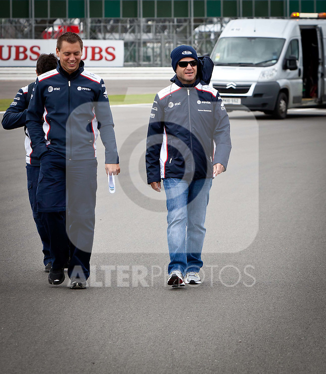 07.07.2011, Silverstone Circuit, Silverstone, GBR, F1, Großer Preis von Großbritannien, Silverstone, im Bild Rubens Barrichello (BRA), AT&T Williams // during the Formula One Championships 2011 British Grand Prix held at the Silverstone Circuit, Northamptonshire, United Kingdom, 2011-07-07, EXPA Pictures © 2011, PhotoCredit: EXPA/ J. Feichter