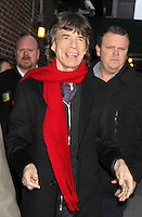 NEW YORK, NY - DECEMBER 11: Mick Jagger at Late Show with David Letterman in New York City. December 11, 2012. Credit:RW/MediaPunch Inc. /NortePhoto