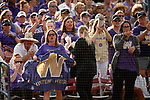 OKLAHOMA CITY, OK - JUNE 04: Washington Huskies fans cheer on their team against the Florida State Seminoles during the Division I Women's Softball Championship held at USA Softball Hall of Fame Stadium - OGE Energy Field on June 4, 2018 in Oklahoma City, Oklahoma. (Photo by Shane Bevel/NCAA Photos via Getty Images)