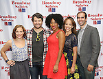 Daisy Eagan, Alex Brightman, Rashidra Scott, Leslie Kritzer and Marc Bruni attends the 8th Annual Broadway Salutes Presentation at Shubert Alley on September 20, 2016 in New York City.