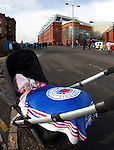 Six month old Lucy MacKay out for a run in her pram before the match