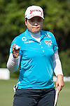 TAOYUAN, TAIWAN - OCTOBER 26:  Inbee Park of South Korea acknowledges to the crowd on the 9th hole during the day two of the Sunrise LPGA Taiwan Championship at the Sunrise Golf Course on October 26, 2012 in Taoyuan, Taiwan. Photo by Victor Fraile / The Power of Sport Images