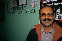 Raju Sarkar, Director of Amnesty International Nepal Section..-The full text reportage is available on request in Word format