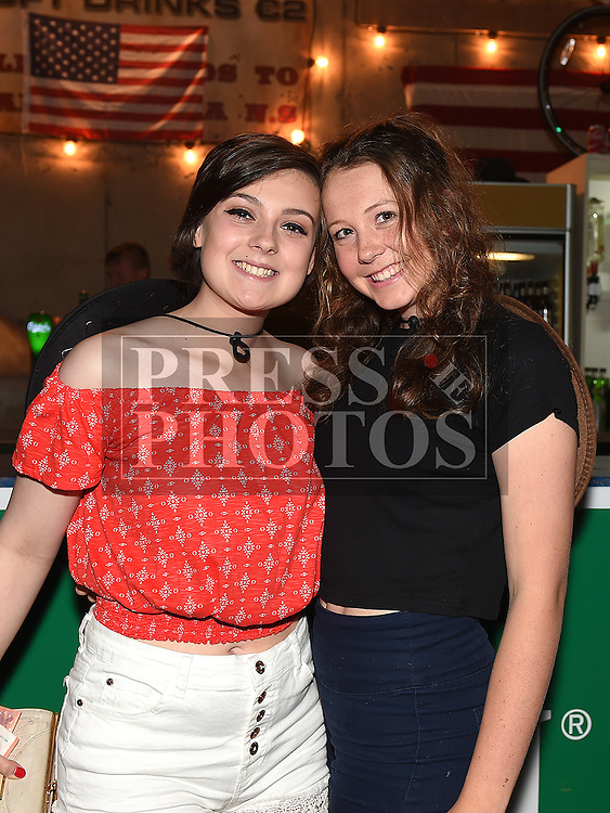 Deirdre Walsh and Clare O'Brien at the Oberstown Farm barn dance. Photo:Colin Bell/pressphotos.ie