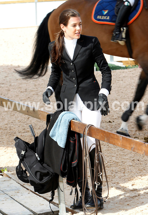 **ALL-ROUND PICTURES FROM SOLARPIX.COM**.**WORLD SYNDICATION RIGHTS EXCEPT BELGIUM, GERMANY, HOLLAND, SCANDINAVIA, SOUTH AMERICA, SPAIN, & USA**.Charlotte Casiraghi, daughter of Princess Caroline of Monaco, competing in the trials of the Global Champions Tour 2010 Valencia Grand Prix Racing, Valencia, Spain. 9 May 2010..This pic: Charlotte Casiraghi..JOB REF: 11278 SKX      DATE:  09_05_2010.**MUST CREDIT SOLARPIX.COM OR DOUBLE FEE WILL BE CHARGED**.**MUST NOTIFY SOLARPIX OF ONLINE USAGE**.**CALL US ON: +34 952 811 768 or LOW RATE FROM UK 0844 617 7637**