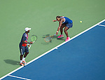 Donald Young and Taylor Townsend (both USA) lose in the mixed doubles semi-finals 6-3, 6-4