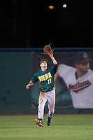 Siena Saints center fielder Dan Swain (22) catches a fly ball during a game against the Stetson Hatters on February 23, 2016 at Melching Field at Conrad Park in DeLand, Florida.  Stetson defeated Siena 5-3.  (Mike Janes/Four Seam Images)