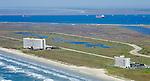 Aerial photograph of Galveston Island, Texas