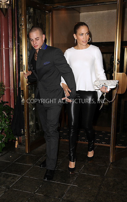 WWW.ACEPIXS.COM....July 23 2012, New York City....Jennifer Lopez and Casper Smart head out of their midtown apartment on July 23 2012 in New York City......By Line: Zelig Shaul/ACE Pictures......ACE Pictures, Inc...tel: 646 769 0430..Email: info@acepixs.com..www.acepixs.com
