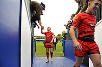 Peter Stringer of Worcester Warriors mingles with Bath Rugby supporters after the match. Aviva Premiership match, between Bath Rugby and Worcester Warriors on October 7, 2017 at the Recreation Ground in Bath, England. Photo by: Patrick Khachfe / Onside Images