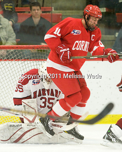 Ryan Carroll (Harvard - 35), Patrick Kennedy (Cornell - 10) - The visiting Cornell University Big Red defeated the Harvard University Crimson 2-1 on Saturday, January 29, 2011, at Bright Hockey Center in Cambridge, Massachusetts.