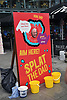 Splat The Dad at Norwich Food & Drink Festival taking place in and around The Forum, 17 June 2018. Norwich UK. The event was held on Father's Day
