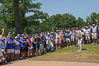 Rory McIlroy (NIR) chips up on to 8 during 3rd round of the 100th PGA Championship at Bellerive Country Club, St. Louis, Missouri. 8/11/2018.<br /> Picture: Golffile | Ken Murray<br /> <br /> All photo usage must carry mandatory copyright credit (&copy; Golffile | Ken Murray)