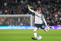 31st January 2020; Pride Park, Derby, East Midlands; English Championship Football, Derby County versus Stoke City; Max Bird of Derby County crossing the ball