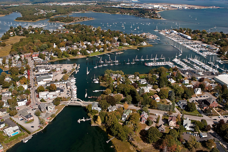 Aerial View of Wickford, Rhode Island
