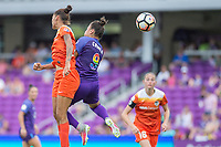 Orlando, FL - Saturday June 24, 2017: Poliana, Camila during a regular season National Women's Soccer League (NWSL) match between the Orlando Pride and the Houston Dash at Orlando City Stadium.