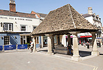The Buttercross market building dating from 1570s in town centre, Chippenham, Wiltshire, England, UK