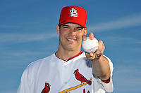 Mar 01, 2010; Jupiter, FL, USA; St. Louis Cardinals pitcher Rich Hill (48) during  photoday at Roger Dean Stadium. Mandatory Credit: Tomasso De Rosa/ Four Seam Images